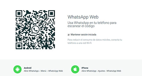 Cómo usar whatsapp en web II
